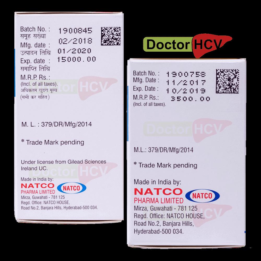 Фото даты на упаковках hepcinat natdac