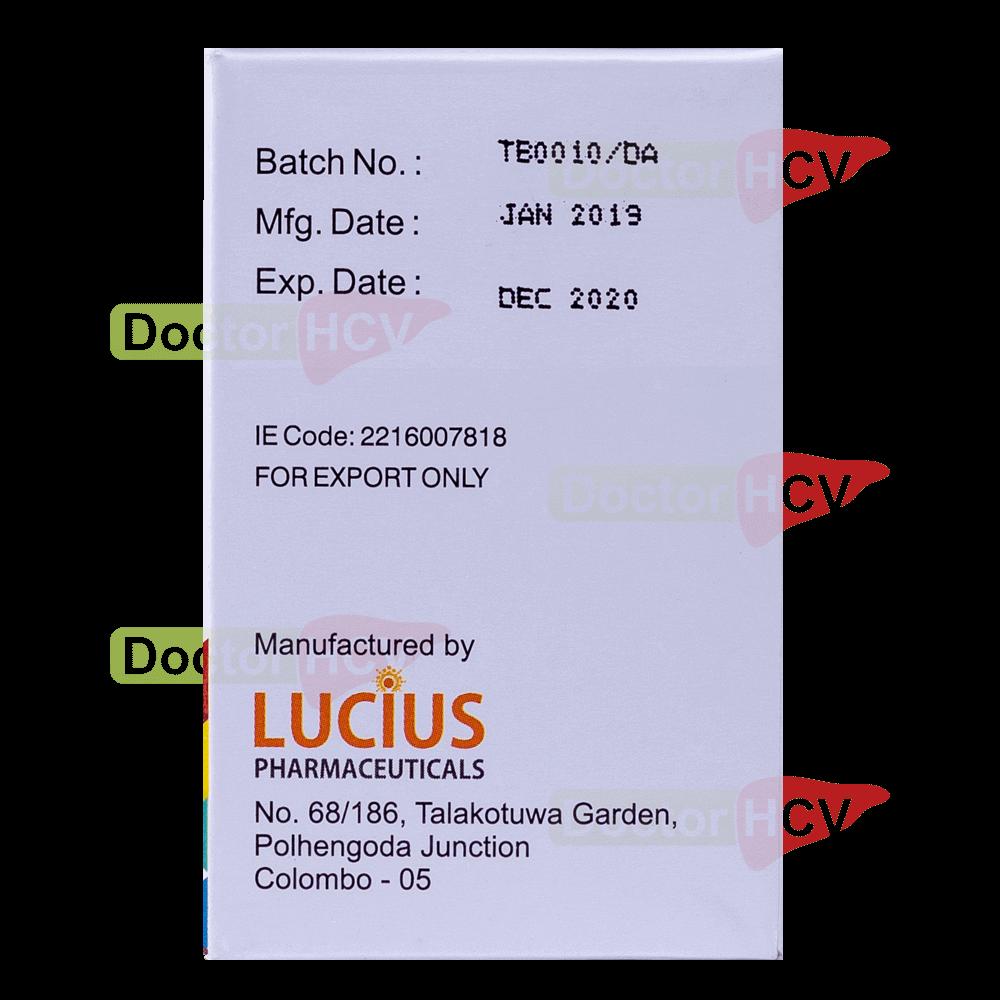 Фото даты упаковки препарата Лючидак